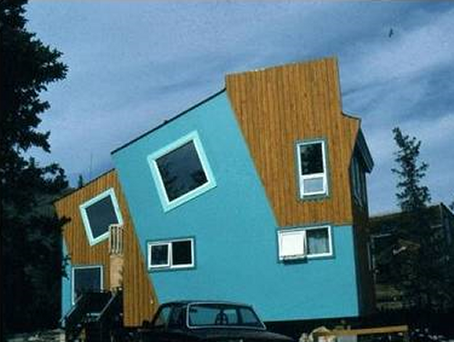 Weird Blue Home